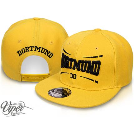CAP-DO01 Snapback Flatbrim Cap  Dortmund  Farbe: gelb