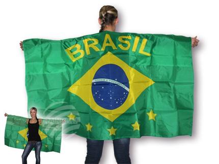 UF-03 Flaggenumhang grün gelb blau Flagge Brasilien Brasil 5 Sterne ca. 150 cm x 90 cm