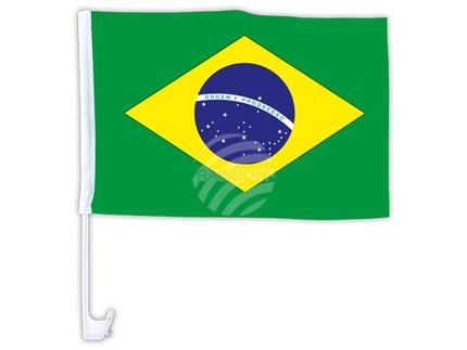AFL-11a Autoflagge Flagge Brasilien 10 Stück ca. 46 x 30 cm