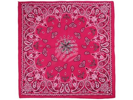 BA-189 Bandana Kopftuch Halstuch Design: Paisley Farbe: pink