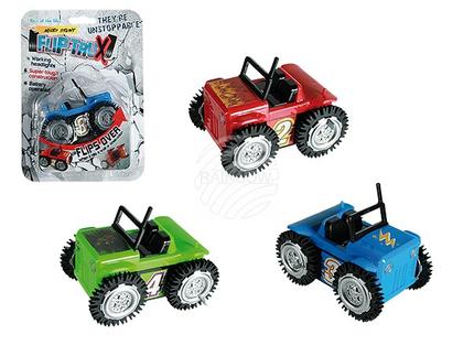 56-0005 Kunststoff-Auto, Flip Buggy, ca. 9,5 cm, 3-farbig sortiert, für 2 Micro Bat