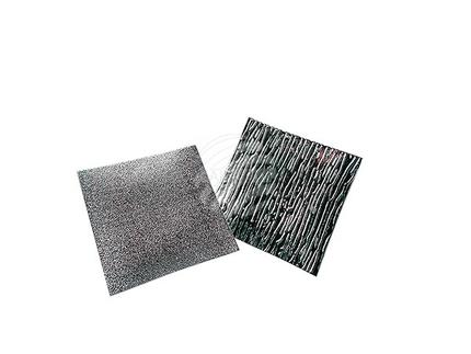 600620 Glasuntersetzer, silber, ca. 12 x 12 cm, 2 fach sortiert, 16 Stück im Aufsteller