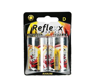 96-2011 Alkaline Mono-Batterie, Reflexx, D, 1,5V, 2 Stück auf Blisterkarte, 1728/PAL