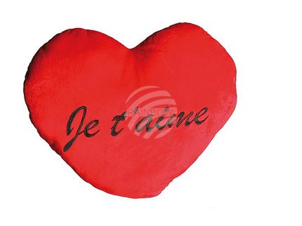 63-2142 Rotes Jumbo-Plüschherz, Je t'aime, ca. 60 cm, 54/PAL