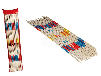 76-6148 Jumbo-Holz-Mikado, ca. 50 cm, 24 Sticks in PVC-Verpackung, 800/PAL