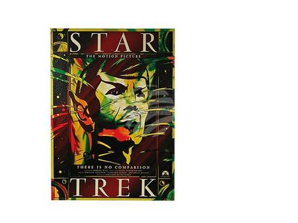 810130 Bild, Kinoplakat Star Trek, Leinen auf Holzrahmen, 50 x 70 cm, 81/PAL