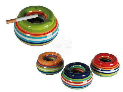 29-3483 Keramik-Sturmaschenbecher, Stripes, ca. 11 x 6 cm, 4-farbig sortiert, 864/PAL