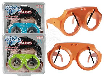 18-3936 Blinkende Kunststoff-Brille, Scheibenwischer, inkl. Batterien, 3-farbig sor