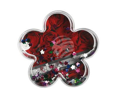94-2187 3D-Acryl-Glitterblume mit Folienblumen, für Foto 9 x 9 cm, 2304/PAL