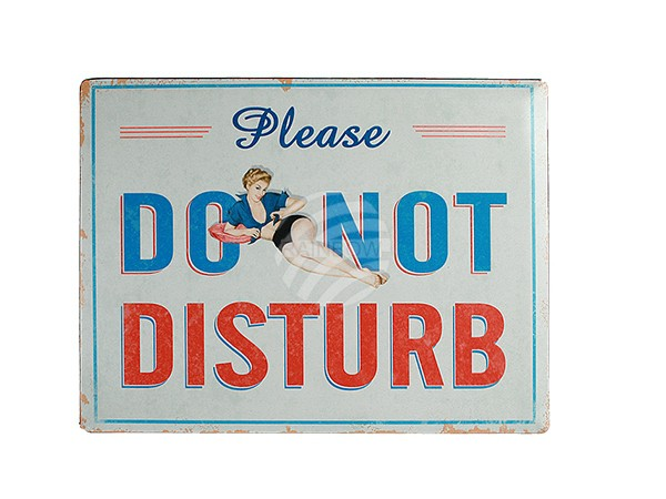 810655 Metall-Schild, Nostalgie Do not disturb, ca. 30 x 40 cm