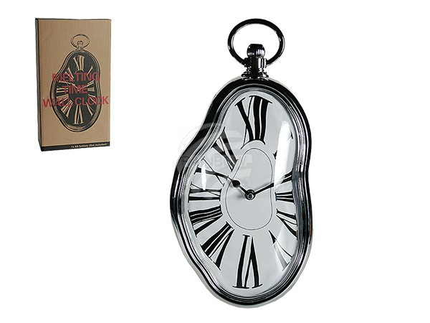 79-3190 Kunststoff-Wanduhr, Melting Time, ca. 37 x 18 cm, für 1 Mignon Batterie (AA