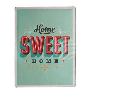 810679 Metall-Schild, Nostalgie Home sweet home, ca. 30 x 40 cm