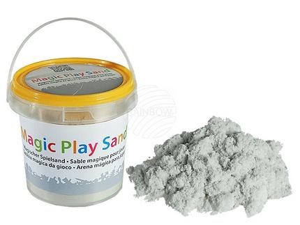 12-2000 Weißer, formbarer Spielsand, ca. 1 kg im Kunststoff-Eimer