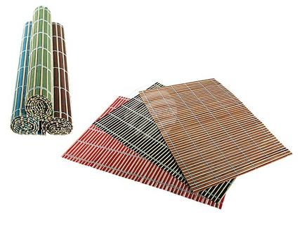145099 Bambus-Tischset, Peking, ca. 45 x 30 cm, 6-farbig sortiert, 36 Stück im Dis