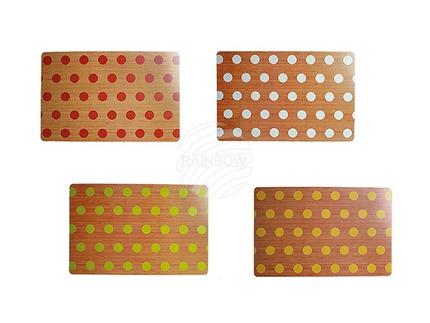 145092 Polypropylen-Tischset, Punkte, ca. 45 x 30 cm, 4-farbig sortiert, 12 Stück im Polybeutel, 7200/PAL
