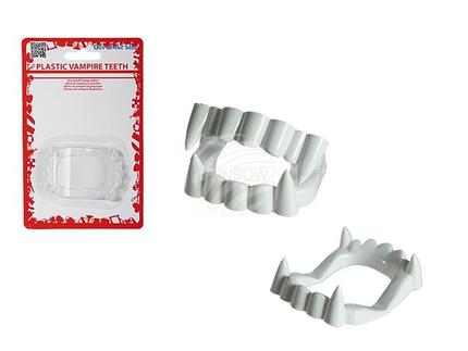 98-2030 Kunststoff-Vampirzähne, auf Blisterkarte, 4800/PAL
