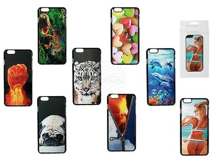 69-0058 3D-Kunststoff-Schale, Motive, für iPhone 6, 8-fach sortiert, in Fensterbox mit Headercard, 1680/PAL