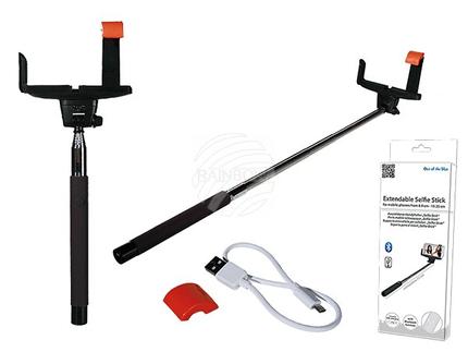 61-1887 Ausziehbarer Handyhalter, Bluetooth Selfie-Stick, ca. 1,05 m, inkl. Akku & USB-Ladekabel, 640/PAL