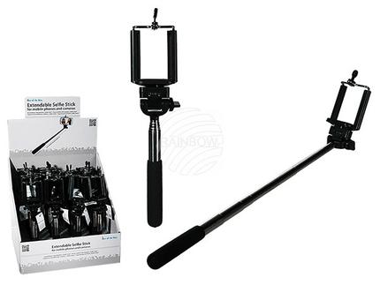 61-1886 Ausziehbarer Handyhalter, Selfie-Stick, ca. 60 cm, 24 Stück im Display