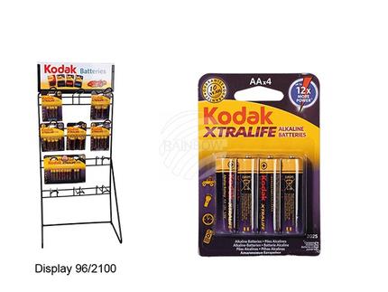 96-2101 Alkaline Mignon-Batterie, Kodak Xtralife, AA, 1,5V, 4 Stück auf Blisterkarte, 6500/PAL