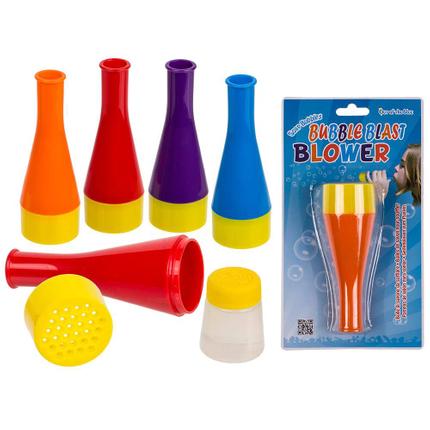 36-0083 Seifenblasen zum Pusten, Blizzard, ca. 12 ml, ca. 10 cm, 4-farbig sortiert, auf Blisterkarte