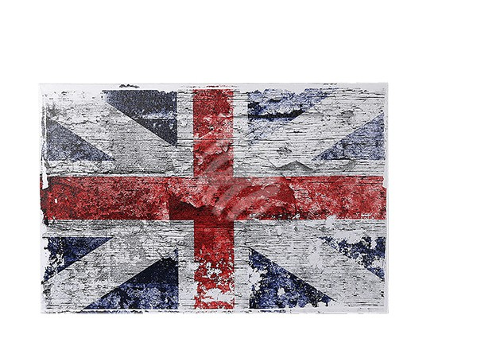 810259 Bild, Vintage Look, Union Jack, Leinen auf Holzrahmen, ca. 40 x 60 cm