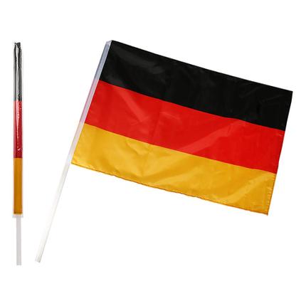 00-0851 Deutschlandflagge, ca. 60 x 90 cm, mit 100 cm Kunststoffstab