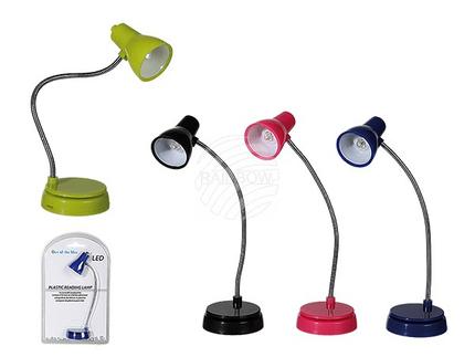 57-9641 Kunststoff-Leseleuchte mit LED (inkl. Batterien) ca. 16 cm, 4-farbig sortiert, auf Blisterkarte