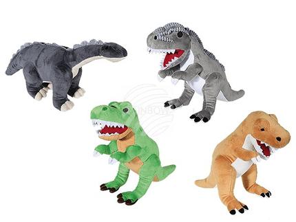 61-6981 Plüsch-Dinosaurier, ca. 40 cm, 4-fach sortiert