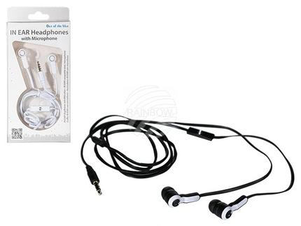 69-1066 IN EAR-Kopfhörer mit Mikrofon & ca. 1,20 m Kabel, 2-farbig sortiert, in Blisterpackung mit Headercard