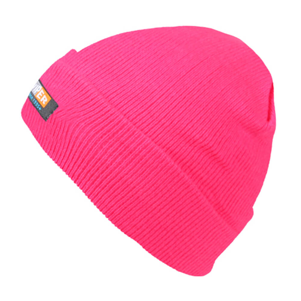 SM-159 Strickmütze Form: Long Beanie, Slouch Farbe: neon pink