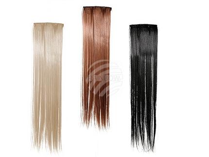 63-2696 Haar-Extensions, ca. 55 cm, 3-farbig sortiert, im Polybeutel mit Headercard