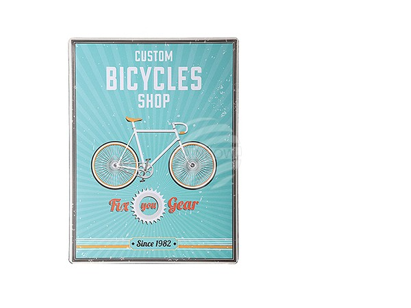 810716 Metall-Schild, Vintage Look, Bicycles Shop, ca. 30 x 40 cm