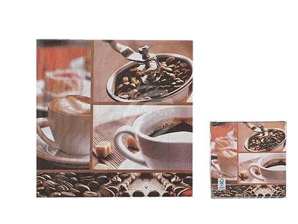 145172 Papier-Servietten, Kaffee, ca. 33 x 33 cm, 3-lagig, 20 Stück im Polybeutel