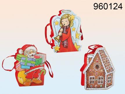 960124 Papier-Geschenktüte, Weihnachten, ca. 19 x 15 cm, 3-fach sortiert