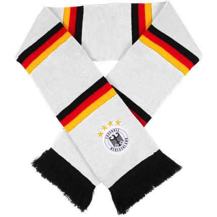 FS-69 Schals Fanschals weiß Flaggen Deutschland Emblem Deutschland 4 Sterne