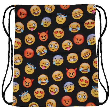 RU-98 Gymbag, Gymsac Design: Emoticons Farbe: schwarz, gelb