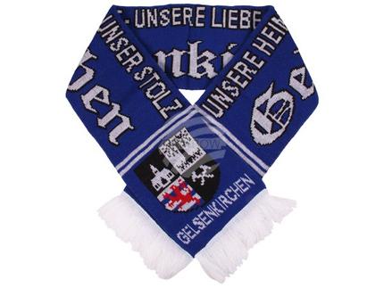 FS-74 Schals Fanschals blau weiß Schriftzug Gelsenkirchen - Unsere Heimat - Unsere Liebe - Unser Stolz Wappen