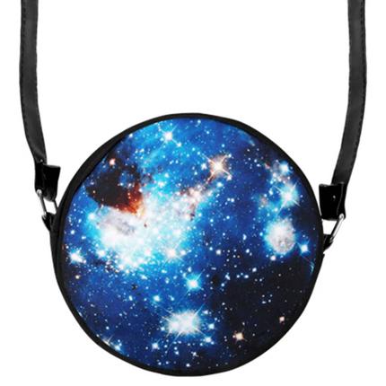 HT-010 Runde Motiv-Handtasche  Galaxis