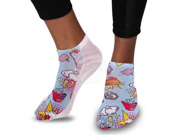SO-57 Motiv Socken Design:Dessert Comic Style Farbe: multicolor