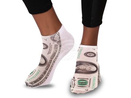 SO-63 Motiv Socken Design:Dollar Farbe: grün