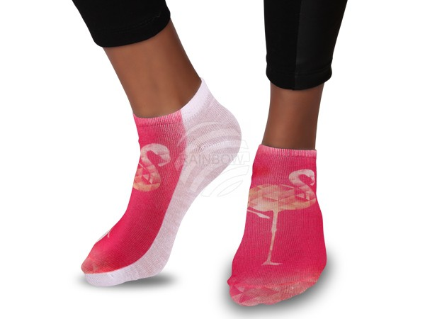 SO-79 Motiv Socken Design:Flamingo Farbe: orange
