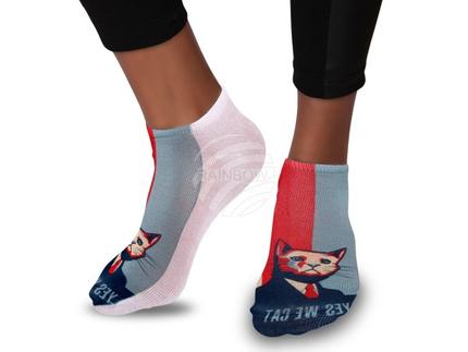 SO-85 Motiv Socken Design:Yes, we cat Farbe: mehrfarbig