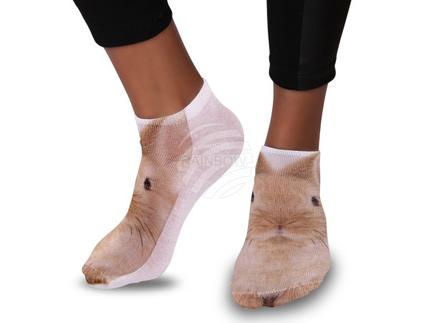 SO-92 Motiv Socken Design:Kaninchen Farbe: beige