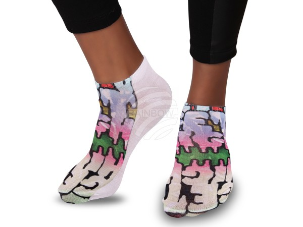 SO-98 Motiv Socken Design:Grafitti: Get high Farbe: multicolor