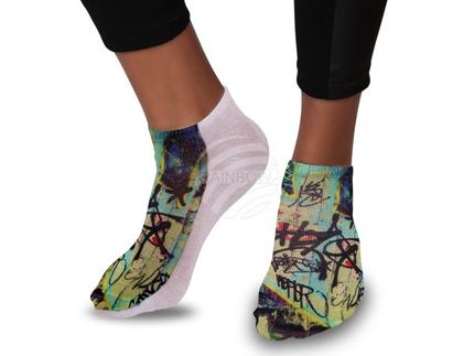 SO-122 Motiv Socken Design:Grafitti Farbe: multicolor