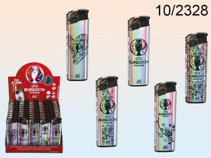 10-2328 Elektro-Feuerzeug, UEFA Euro 2016, 5-fach sortiert, 50 Stück im Display