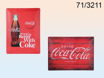 71-3211 Metall-Schild, Retro Coca Cola, ca. 40 x 30 cm, 2-fach sortiert