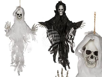 98-2047 Halloween-Figur, Skul IV, ca. 75 cm, 2-farbig sortiert, zum Aufhängen