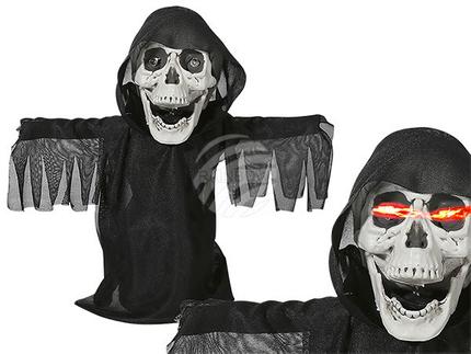 98-2049 Halloween-Figur, Black Reaper, mit Licht, Sound & Bewegung, ca. 25 cm, für 2 Mignon Batterien (AA)